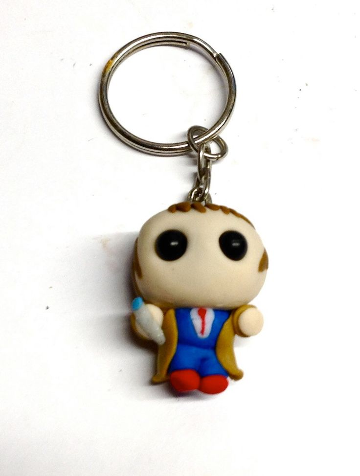 Lil Tenth Doctor (David Tennant) Keyring by LilFimoKeyrings on Etsy https://www.etsy.com/listing/212196787/lil-tenth-doctor-david-tennant-keyring
