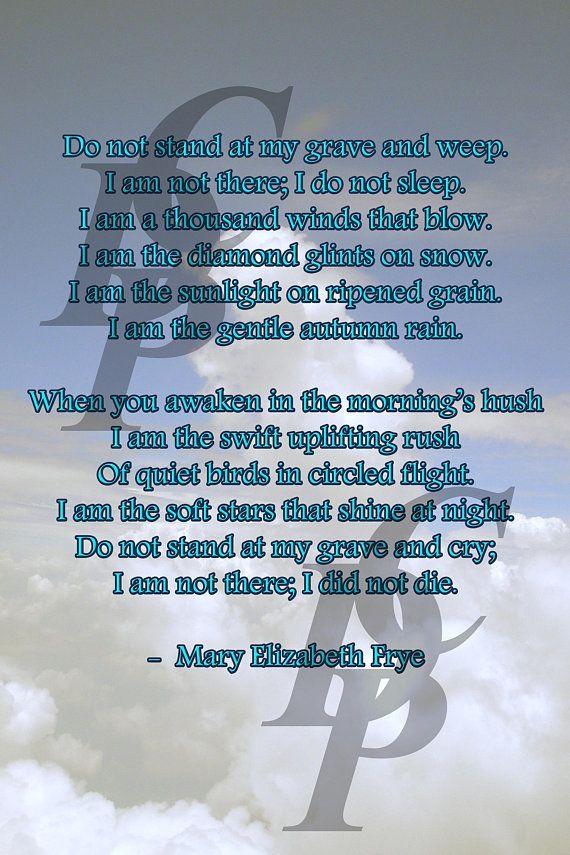 mary elizabeth frye do not stand