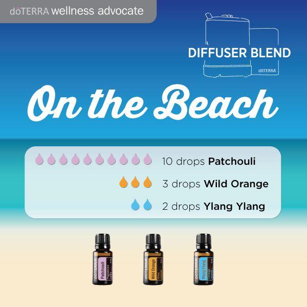 Beachy, summer diffuser blend with doTERRA essential oils. http://oilpoweredmom.com/