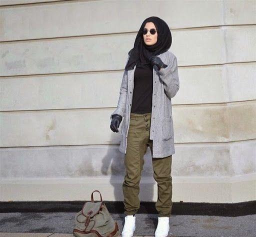 Model Busana Hijab Casual Remaja Terbaru 2015