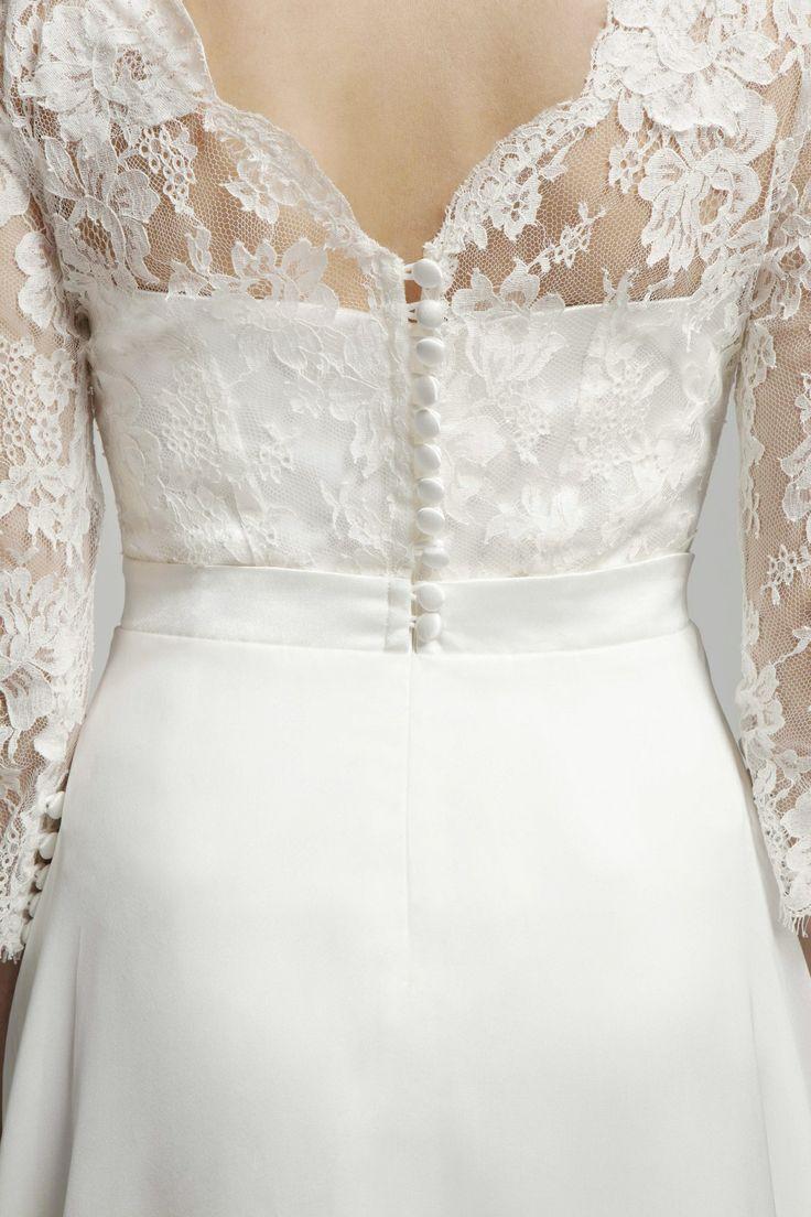 Ava Dress ~ Back Lace detail ~ Melanie Potro Bridal Couture 2014 Collection