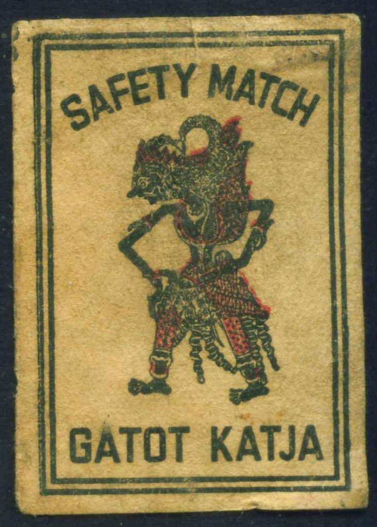 Koleksi Tempo Doeloe: Koleksi 14 bh. Label Korek api Indonesia Jadul. (Vintage collection. Indonesian matchbox label).