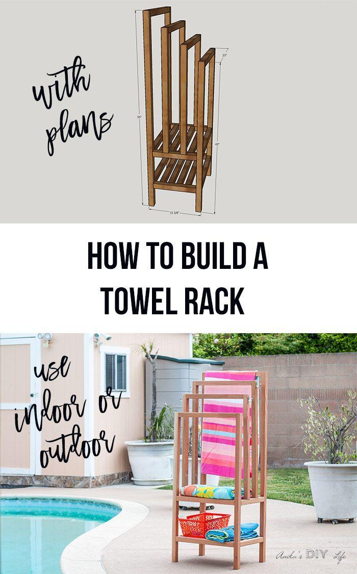 Diy Outdoor Towel Rack With Shelves Outdoor Towel Rack Towel Rack Pool Diy Towel Rack