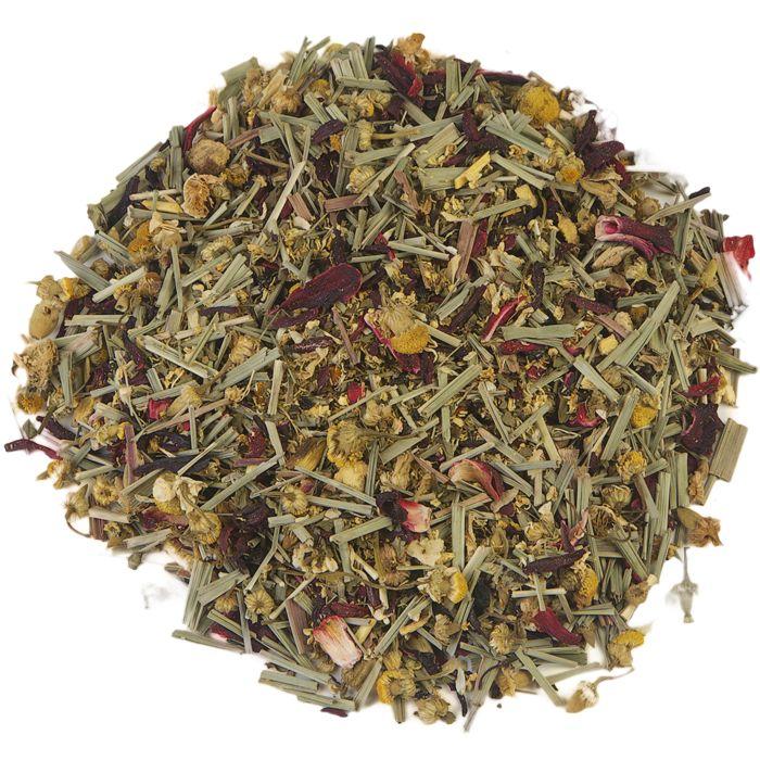 BOERENLAND | Boerenland is een gearomatiseerde mix van kruiden- en vruchtenthee. De kruidencompositie wordt in harmonie gebracht dankzij het frisse van Nana-munt. Met een tikje zoethout een gember, afgerond door de edele smaak van cassis en binnenlandse bramen. Een verkwikkende thee die geschikt is voor elk moment van de dag. |