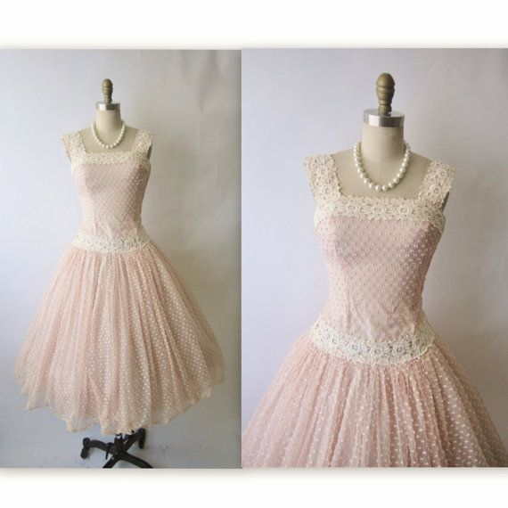 Vintage Dotted Pink dress. Seriously cupcake style! Waaaaasnt!