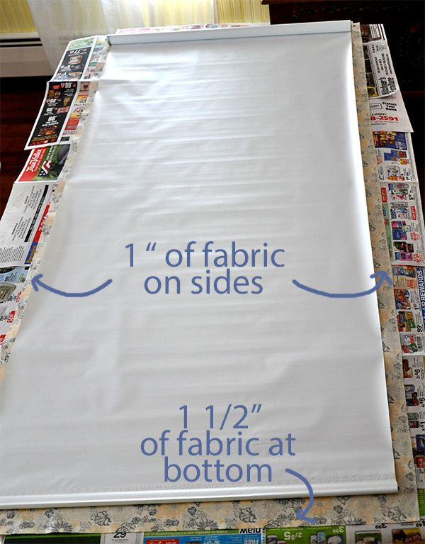 Fabric Covered Window roller Shade Tutorial- Jacquelynne Steves