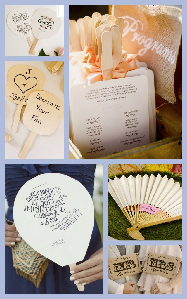 fans for outdoor ceremony