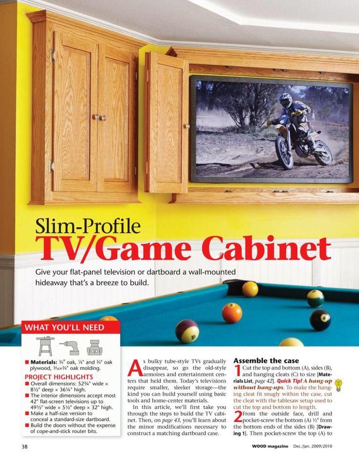 Slim-Profile TV/Game Cabinet DIY plan