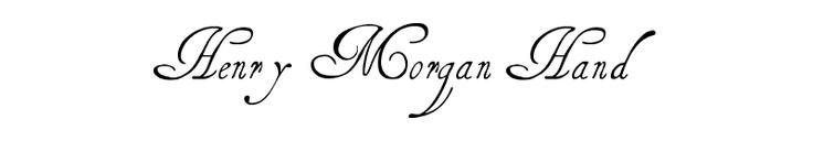 Henry Morgan Hand--free font