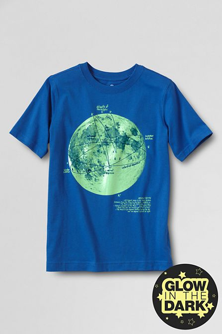 Boys' Short Sleeve Graphic T-shirt from Lands' End