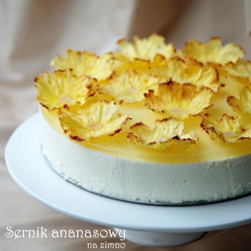 Sernik ananasowy na zimno