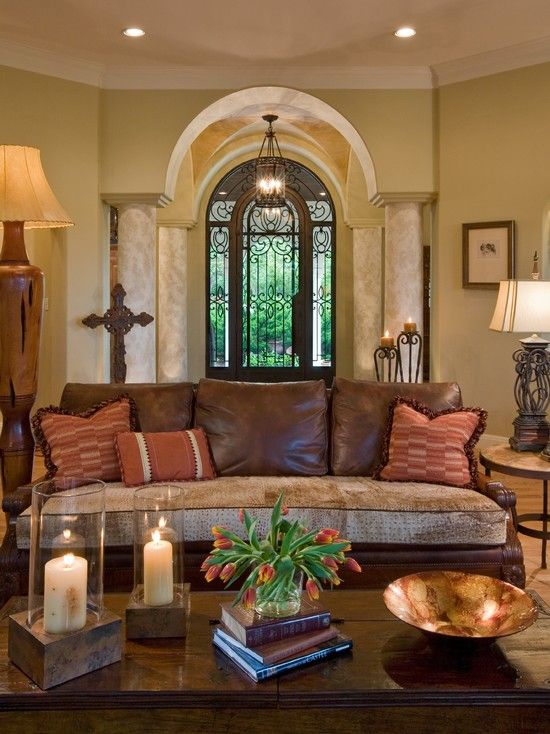 Mediterranean Living Room Design, Pictures, Remodel, Decor and Ideas - page 2
