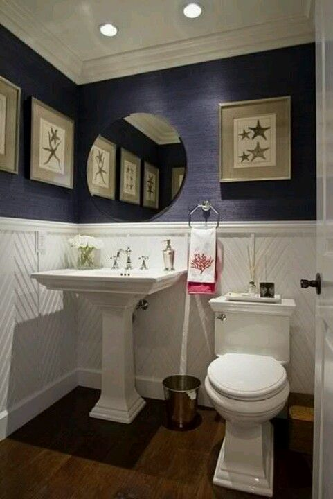Image Gallery For Website Half Bath love love the wainscoting So different Maybe for