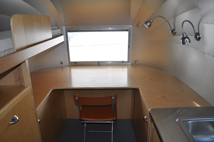 minimalist airstream interior. it's like a blank canvas to me. oh