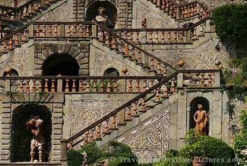 Stairs in the Garden of Garzoni in Tuscany, Italy
