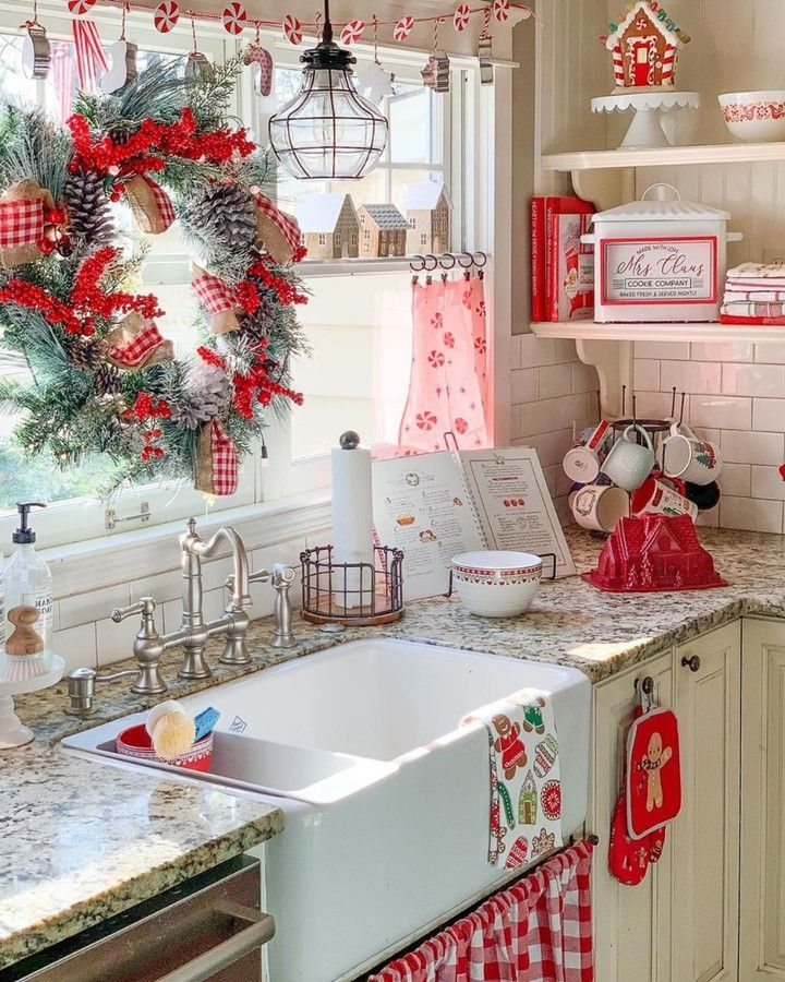 farmhouse is my style on instagram this just looks like mrs claus kitchen i christmas on farmhouse kitchen xmas id=75095