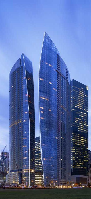 The Sail @ Marina Bay, Sinapore designed by NBBJ :: 70 floors, height 245m ☮k☮ #architecture