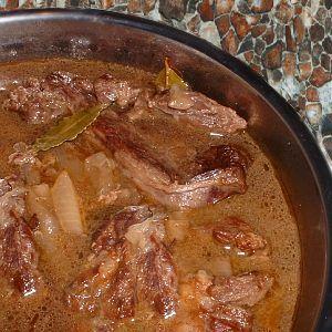 Rundvlees 'van oma'  (draadjesvlees)