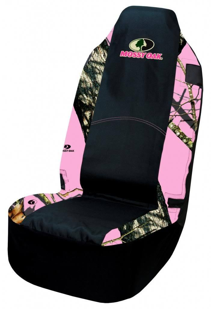 Pink Mossy Oak Universal Seat Cover