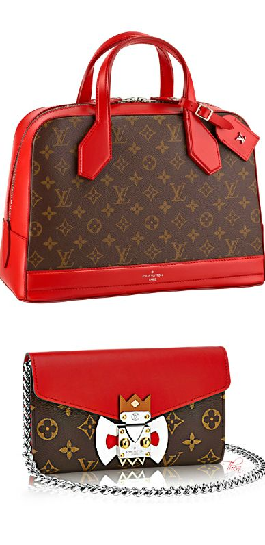 Nicolas Ghesquière for Louis Vuitton ~ Fall Brown + Red Handbag  2014