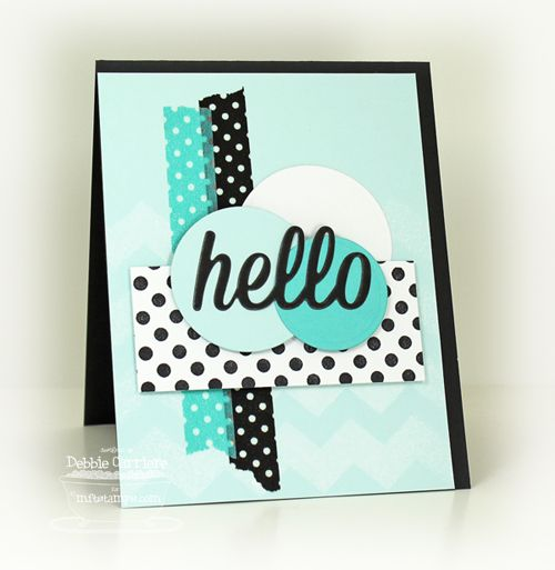 Washi Hello by mom2n2 - Cards and Paper Crafts at Splitcoaststampers