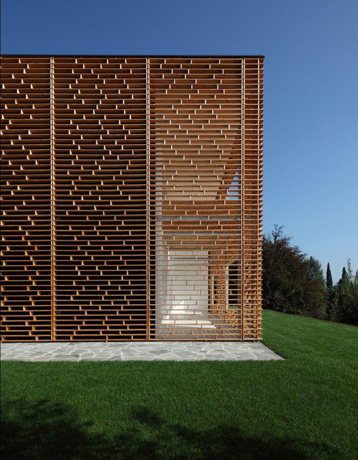 marco castelletti: lake como houseFacades, Privacy Screens, Lakes Como, Wood Design, Architecture Inspiration, Wood Wood, House, Wood Architecture, Marco Castelletti