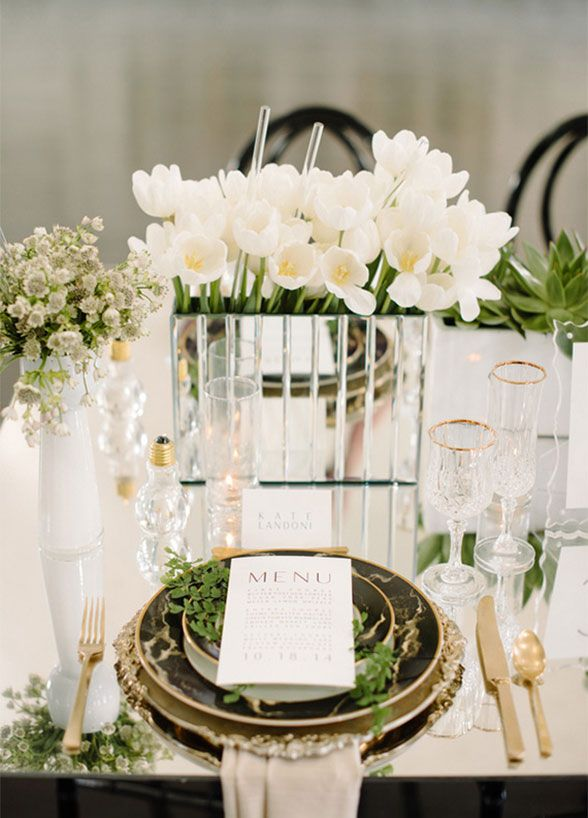 Unbelievably creative centerpiece ideas a mirrored