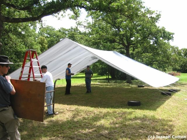 using a large tarp as a shelter - Google Search