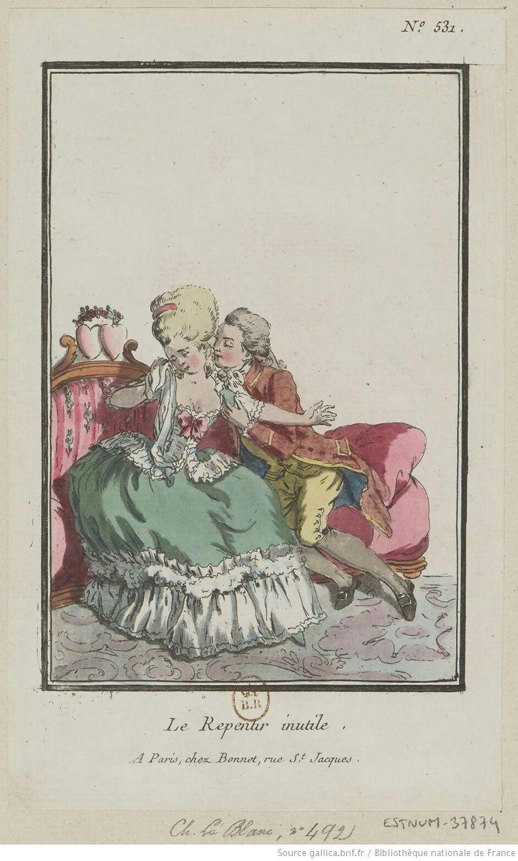 Titre:Le Repentir inutile. : [estampe] / [Louis-Marin Bonnet] Auteur:Bonnet, Louis-Marin (1743-1793). Graveur Date d'édition:17..