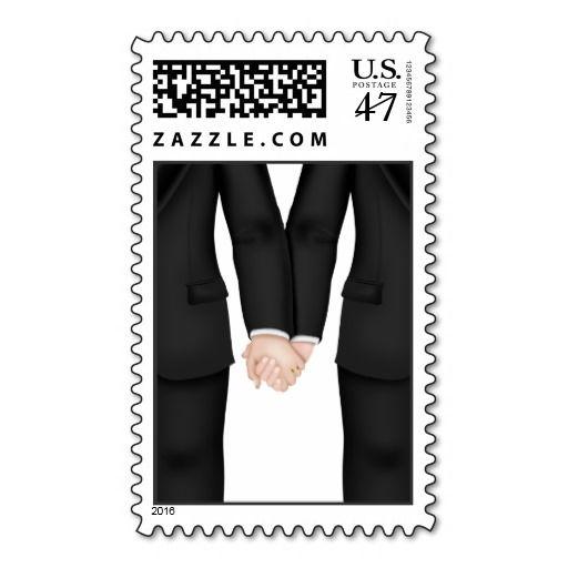 Gay Men's Wedding Postage