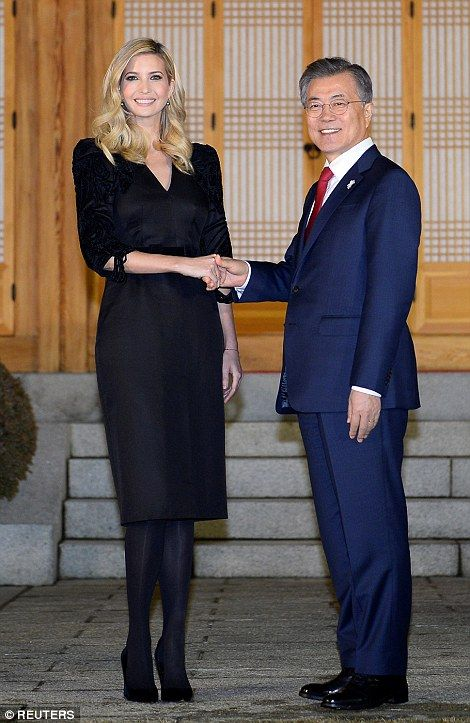What Ivanka Trump is wearing today. South Korea, Olympics, anything but basic black. Feb 23 2018.