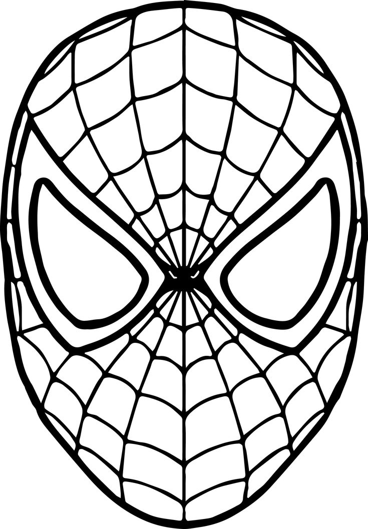 Spiderman Mask Coloring Page | Spiderman coloring ...