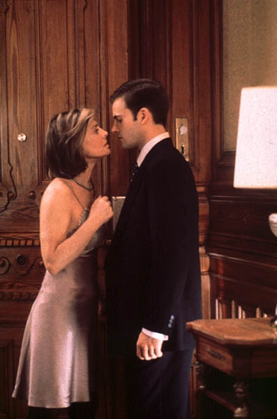 """Jeffrey Byron (Jonny Lee Miller): """"You're the most fascinating woman I've met in my entire life."""" // Phyllis Mann (Julie Christie): """"Yes, I know."""" -- from Afterglow (1997) directed by Alan Rudolph"""