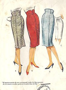 High waisted pencil skirts with front fastening variations