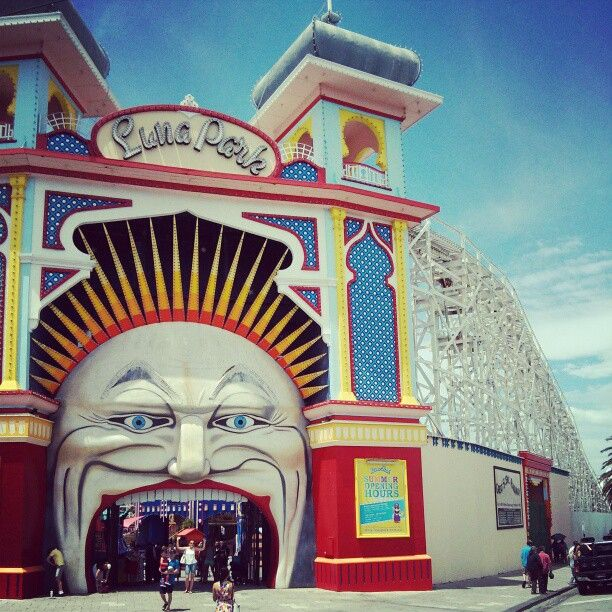 Luna Park on its 100th birthday. Still waiting for it to blow out the candles. #Melbourne