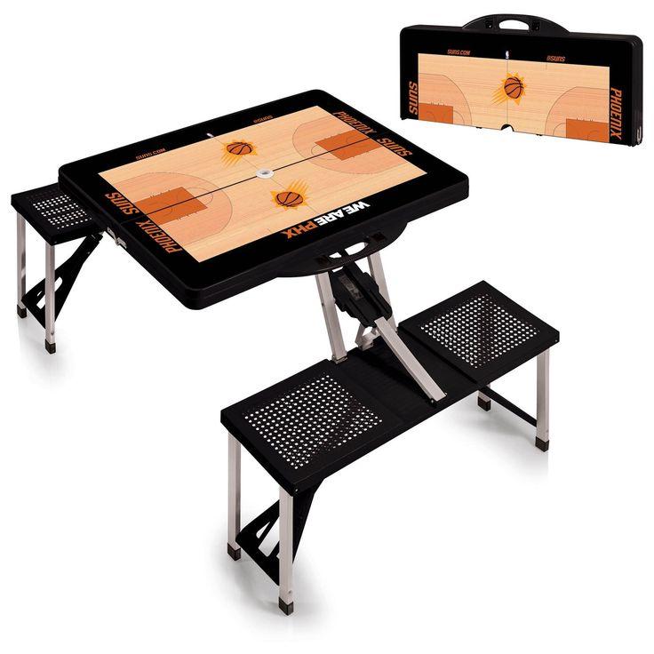 Phoenix Suns NBA Black Portable Picnic Table