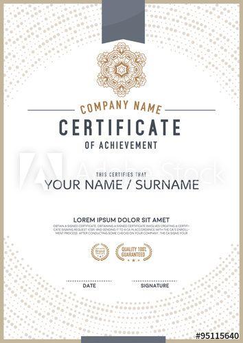 34 best cert design images on pinterest award certificates design vector certificate template yelopaper Image collections