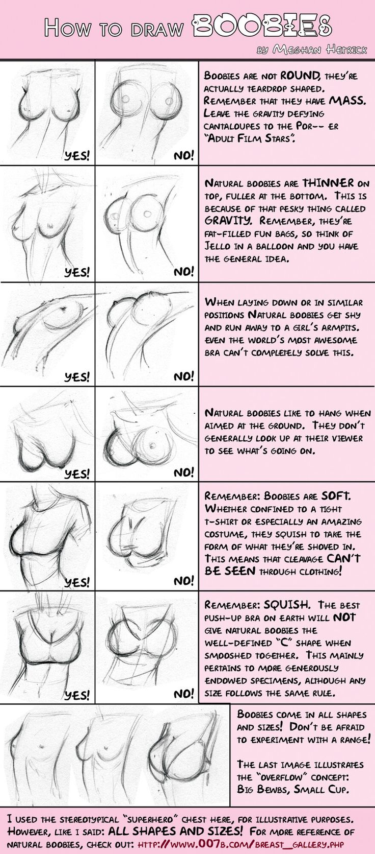 """How to Draw Boobies"" by Meghan Hetrick. Originally from her DeviantArt."
