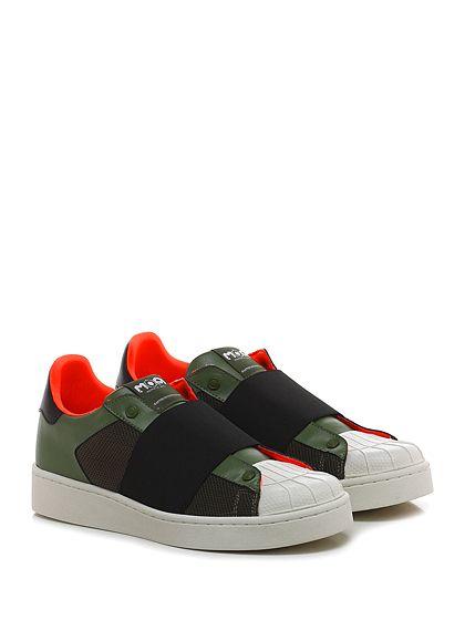 Moa - Sneakers - Uomo - Sneaker in pelle e tessuto a retina con suola in gomma. - MILITARE\BLACK - € 150.00