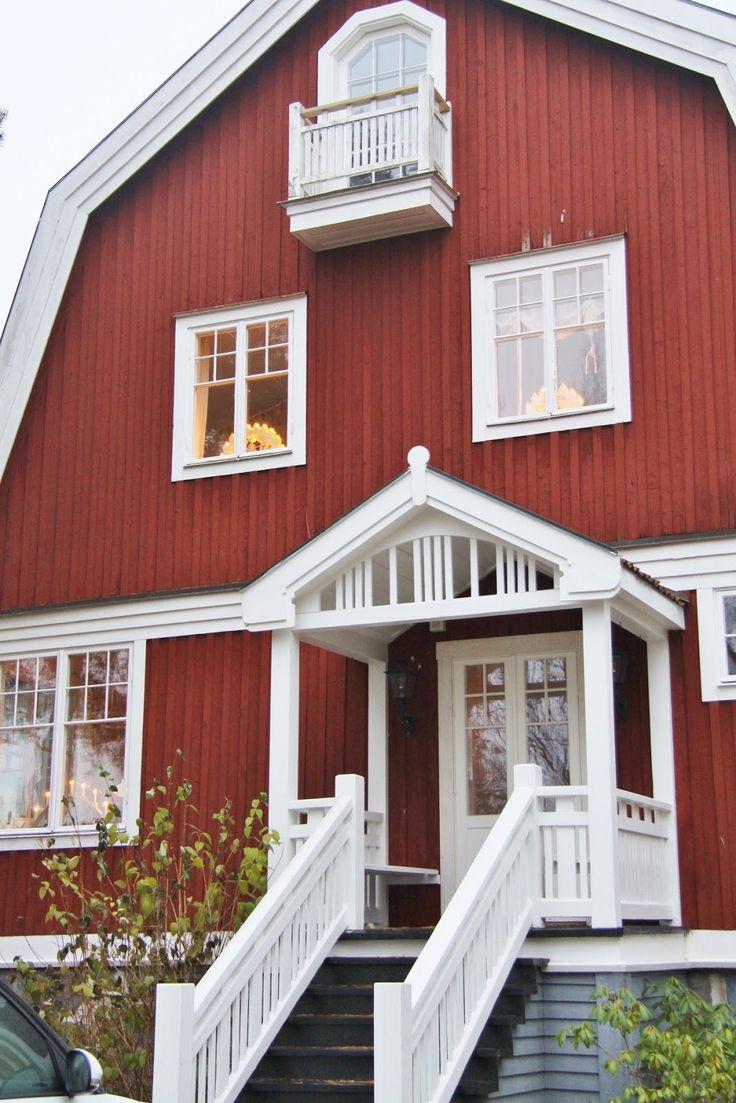 Sanna sania house pinterest decor de noel for Red barn houses