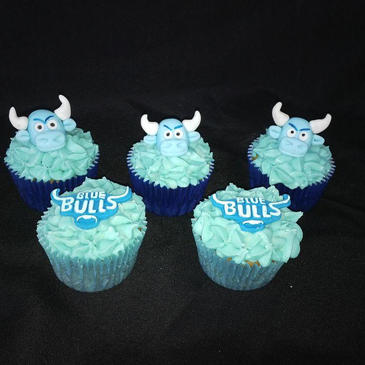 Blue Bulls cupcakes (Cupcake toppers sold separately) (Bloemfontein cake & cupcakes)