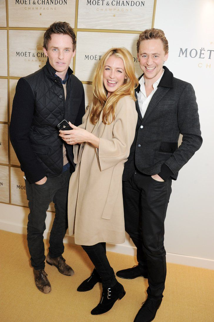 Pin for Later: Take a Moment to Appreciate Tom Hiddleston's Hottest Moments  Tom made a ginger sandwich with Eddie Redmayne and Cat Deeley.