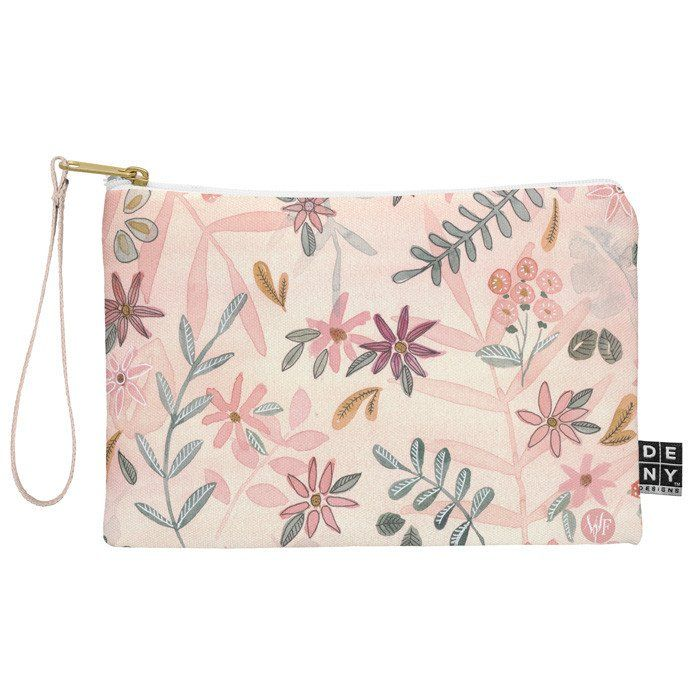 Feminine Floral Zip Pouch by Wonder Forest