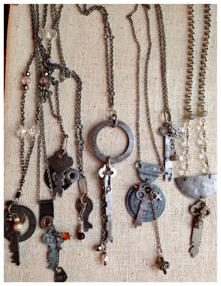 high end jewelry stores atlanta Vintage key necklaces by LjBlock Designs
