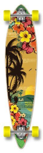 Special Graphic Complete Longboard PINTAIL skateboard w/ 70mm wheels, Hawaii Tropical Day by The Epic Sports. $90.99. This item is ready to ride !!!