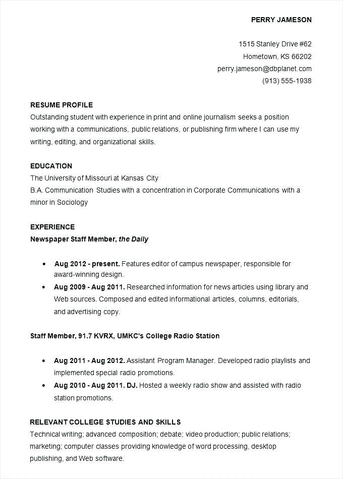 Staff Accountant Resume Objective College Application Resume High School Resume Template Resume Objective