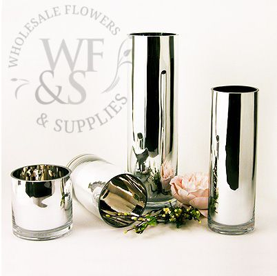 Discount Wholesale Price on Mirrored Glass Cylinder Vase, Wholesale Glass Cylinders, Vases and Containers - Wholesale Flowers and Supplies