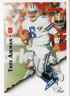 "troy aikman football card | ... - Troy Aikman #15 ""SCORE 95"" American Football NFL Trading Card"
