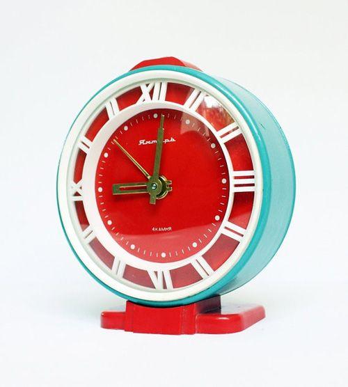 Restored Soviet clock