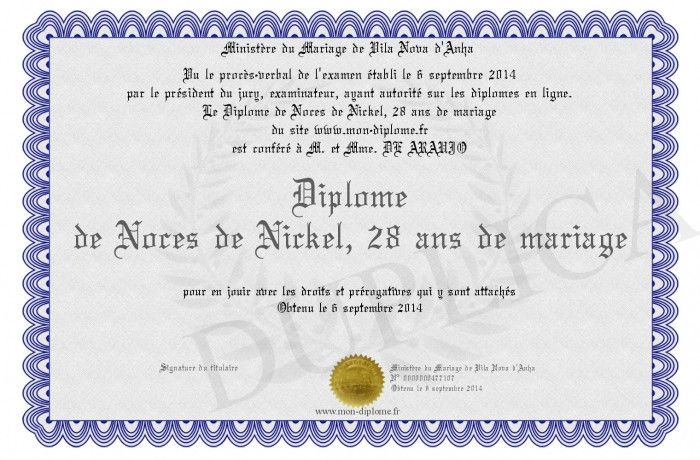 28 Ans De Mariage Noces De
